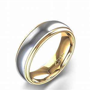 men39s two tone textured wedding ring in 14k gold With two tone mens wedding ring