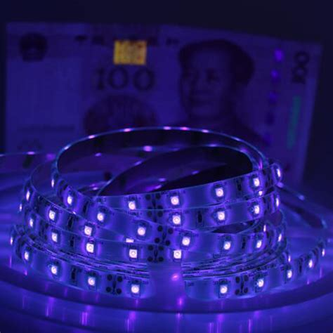 new uv black light led 3528 smd 60led m dc12v purple