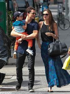 Miranda Kerr and Orlando Bloom spent the day with Flynn ...