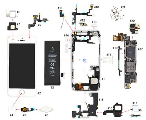iphone  parts diagram vkrepaircom