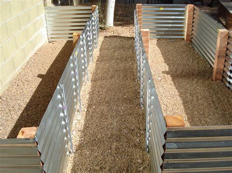 corrugated metal garden beds raised beds garden gidget s