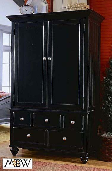 Black Wood Wardrobe Closet by Distressed Furniture Distressed Black Tv Entertainment