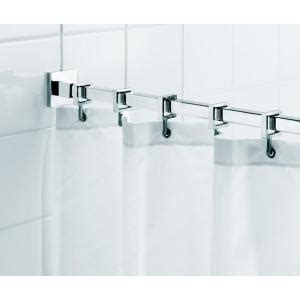 Curtain Hangers Home Depot by Croydex Square 98 4 In L Luxury Shower Curtain Rod With