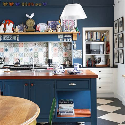 kitchen island ideas navy kitchen ideas ideal home