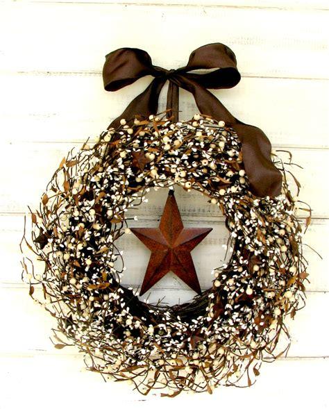 rustic wreaths fall wreath rustic wreath primitive berry wreath winter