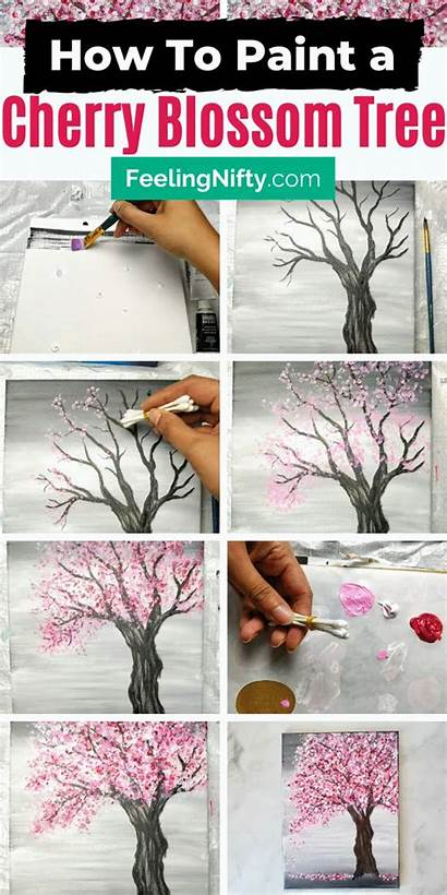 Blossom Cherry Tree Painting Paint Easy Acrylics