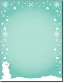 Snowman Christmas Stationery Paper