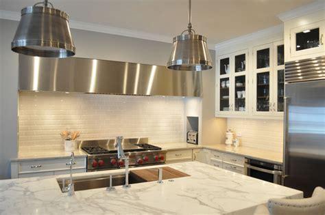 Statuario Marble   Transitional   kitchen   KItchen Lab