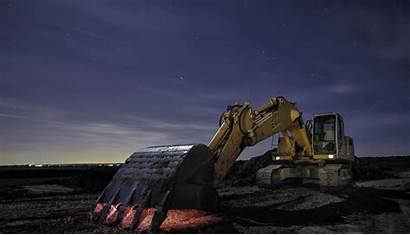 Excavator Construction Equipment Wallpapers Night Cool Building