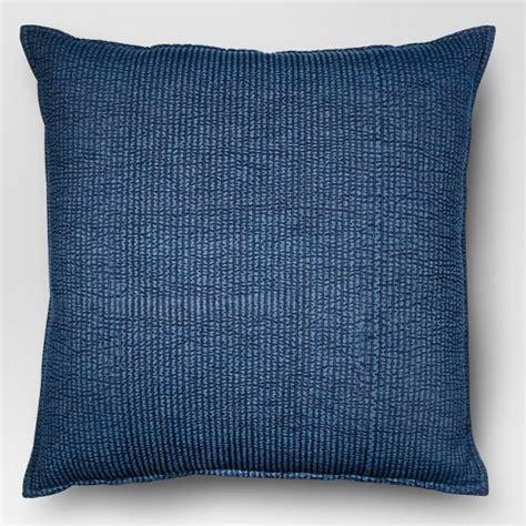 large throw pillows blue oversized chambray denim throw pillow threshold