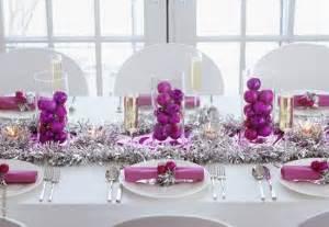 traditional christmas table settings purple and silver christmas ornaments purple and silver