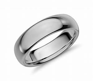 comfort fit wedding ring in classic gray tungsten carbide With comfort fit wedding rings