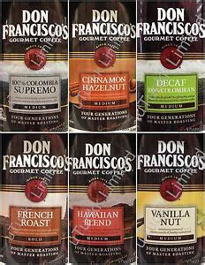 12oz Don Francisco's Gourmet Flavored Ground Coffee Since 1870 Pick One   eBay