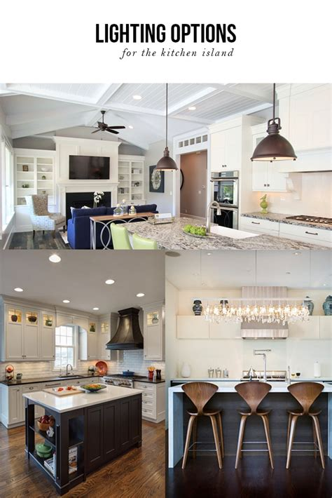 lighting options   kitchen island