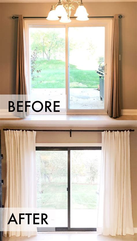drapes for sliding glass door one room challenge week 3 small upgrades big impact