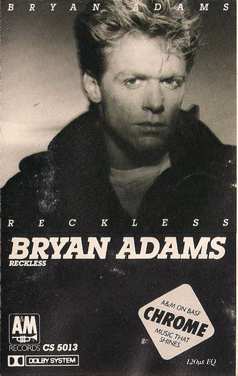 Bryan Adams  Reckless (cassette, Album) At Discogs