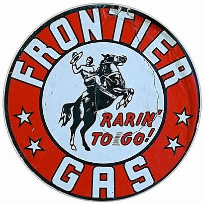 Gas Sign Frontier Retro Oil Signs Gasoline