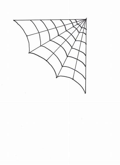 Web Spider Coloring Halloween Template Drawing Clip