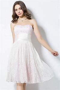robe genoux pour aller a un mariage en dentelle rose pale With robe pas cher pour aller a un mariage