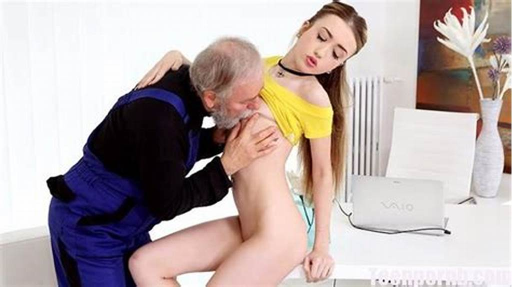 #Oldgoesyoung #Vlada #Gets #Her #First #Taste #Of #Old #Man #Cock