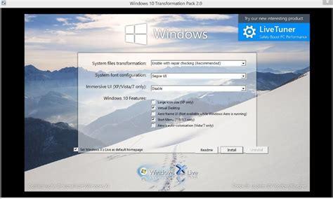 pack de transformation windows 10 pour windows 7