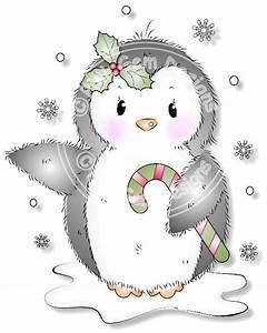 Cute Penguin - Digi Stamp
