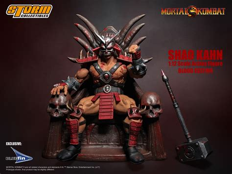 Mortal Kombat Shao Kahn Bloody Edition Figure By Storm
