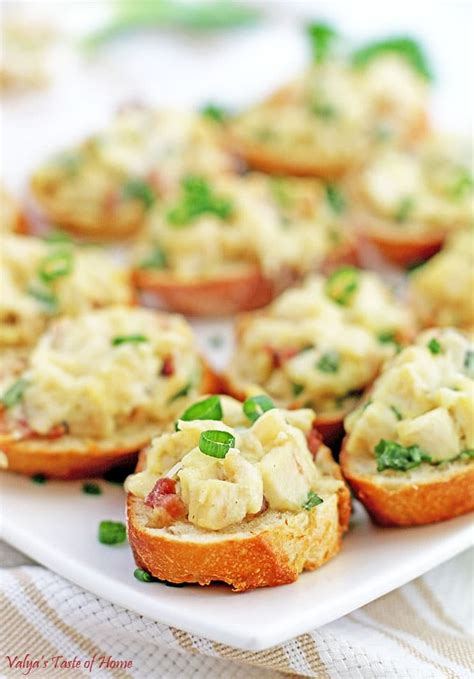 canape appetizer chicken bacon alfredo canapés appetizers valya 39 s taste