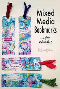 Free printable mixed media bookmarks - Atop Serenity Hill