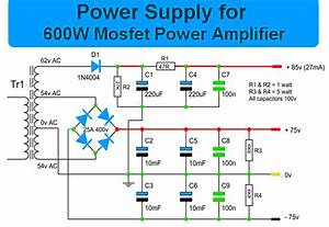 600 Watt Mosfet Power Amplifier With Pcb