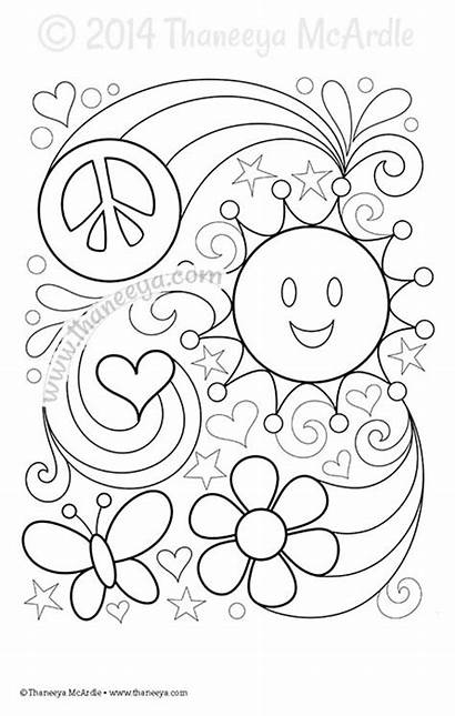 Coloring Thaneeya Mcardle Blank Pages Books Peace