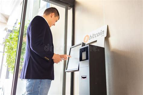 How to buy bitcoin from a bitcoin atm? Bitcoin Atm And Businessman Stock Image - Image of ethereum, future: 142546715