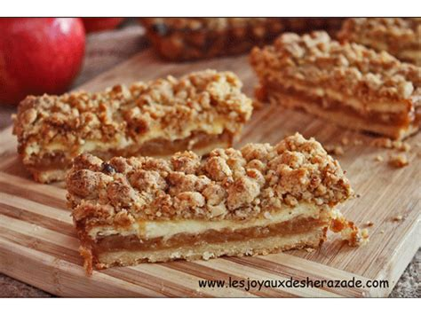 dessert avec compote de pommes recette de streusel aux pommes