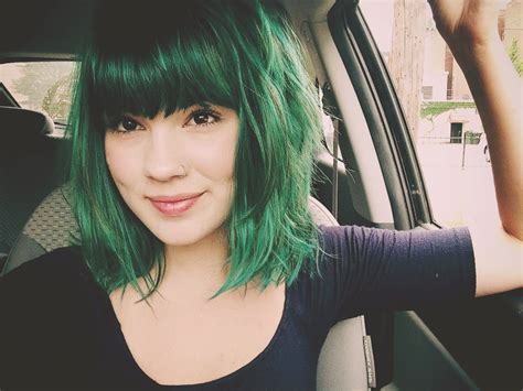 Pretty Girl Green Hair Hair Colors Ideas