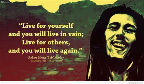 Bob marley images with quotes