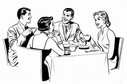 Dinner Table Party Clipart Clipartpanda Eating Social