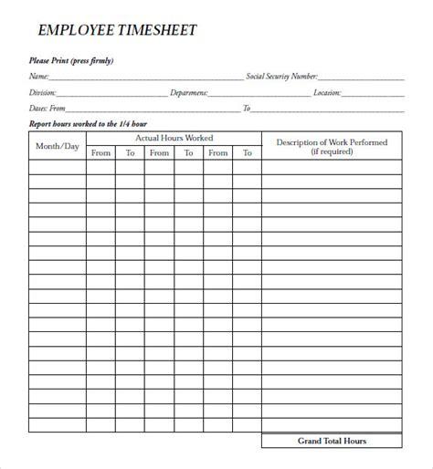 8+ Sample Payroll Timesheets  Sample Templates