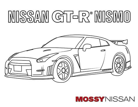 car coloring pages  adults  kids mossy nissan