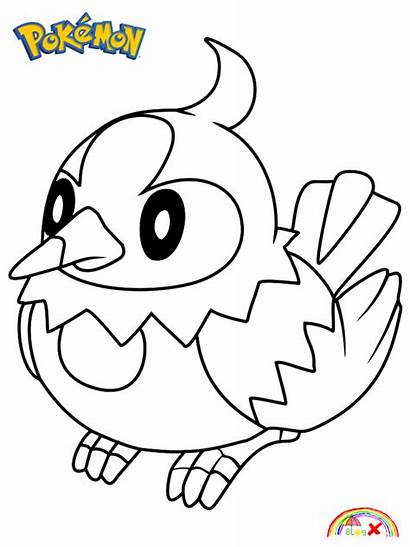 Pokemon Coloring Character Starly Blogx Info