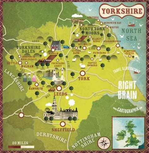 illustrated map  yorkshire  alexandre verhille