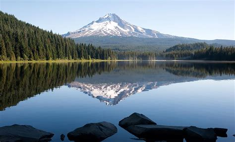 mt hood reflection  trillium lake shutterbug