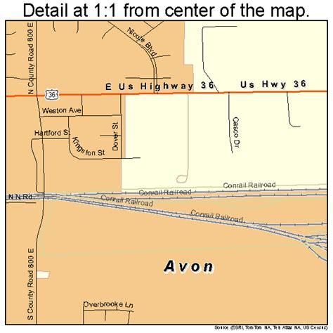 avon indiana street map 1802908