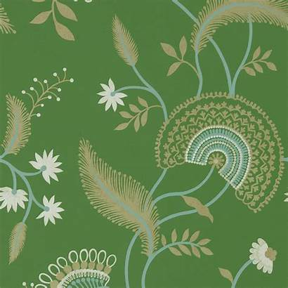 Sanderson Hakimi Emerald Caspian Floral Wallpapers