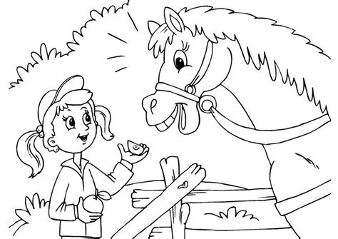 Kleurplaat Paard En Wagen by Kleurplaat Paard En Meisje Afb 25971