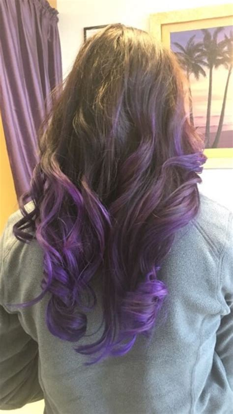 Brown Hair With Tips by Purple Tips With Brown Hair Hair Hair Hair Dye Tips