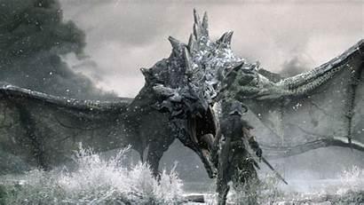Skyrim Dragon Wallpapers Elder Pc Dragonborn Desktop