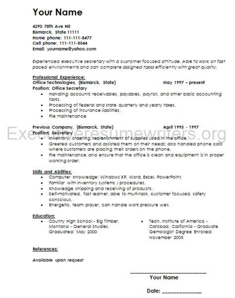 executive resume berathen