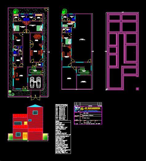 furnished house dwg elevation  autocad designs cad