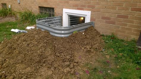 How Far Does A Basement Egress Window Well Need To Stick