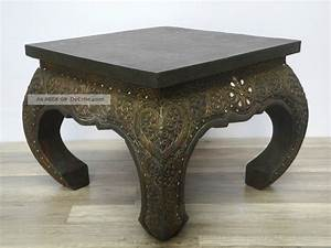 Beistelltisch 50 Cm Hoch : opiumtisch beistelltisch couchtisch 50 x 50cm thailand tisch holz dunkel antik ~ Bigdaddyawards.com Haus und Dekorationen